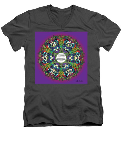 Celtic Spring Fairy Mandala Men's V-Neck T-Shirt