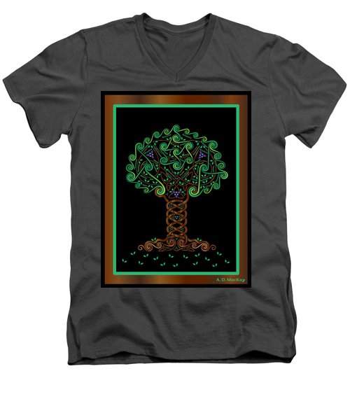 Celtic Tree Of Life Men's V-Neck T-Shirt
