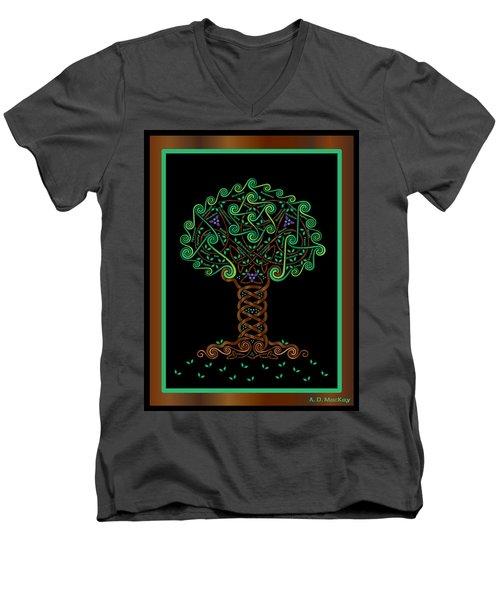 Celtic Tree Of Life Men's V-Neck T-Shirt