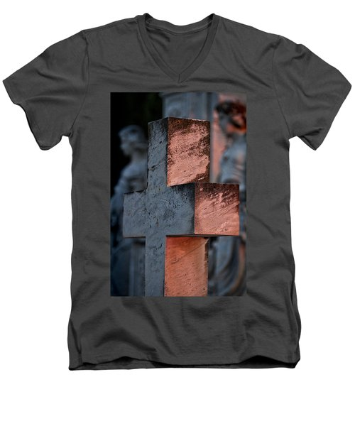Cemetery Cross - Hvar Croatia Men's V-Neck T-Shirt
