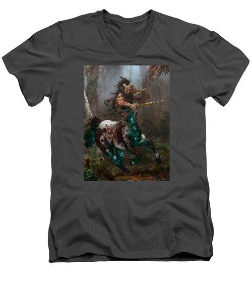 Centaur Token Men's V-Neck T-Shirt by Ryan Barger