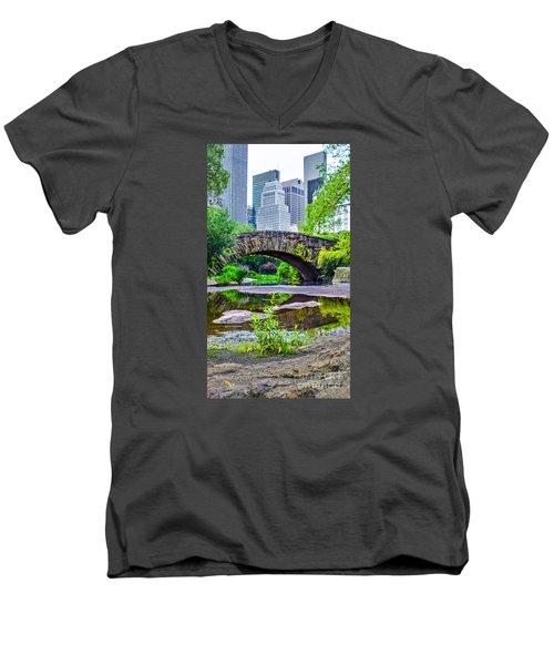 Central Park Nature Oasis Men's V-Neck T-Shirt