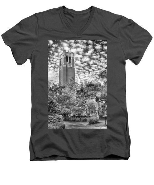 Men's V-Neck T-Shirt featuring the photograph Century Tower by Howard Salmon