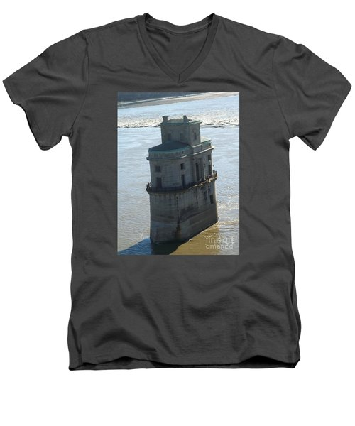 Men's V-Neck T-Shirt featuring the photograph Chain Of Rocks by Kelly Awad