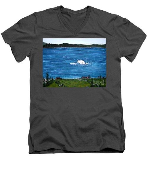 Challenges Men's V-Neck T-Shirt by Barbara Griffin