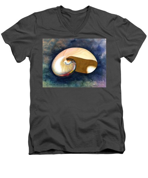 Chambered Nautilus Men's V-Neck T-Shirt