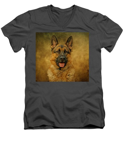 Chance - German Shepherd Men's V-Neck T-Shirt
