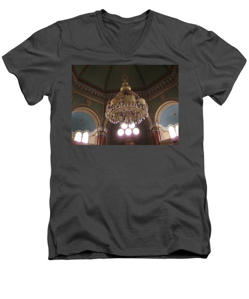 Chandelier Of Sofia Synagogue Men's V-Neck T-Shirt