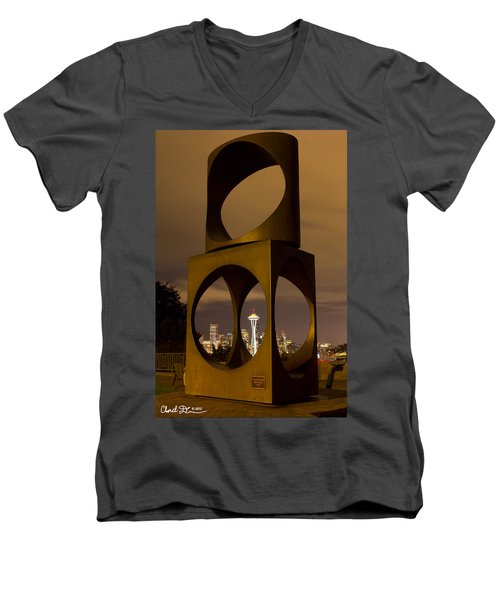 Changing Form Of Seattle Men's V-Neck T-Shirt