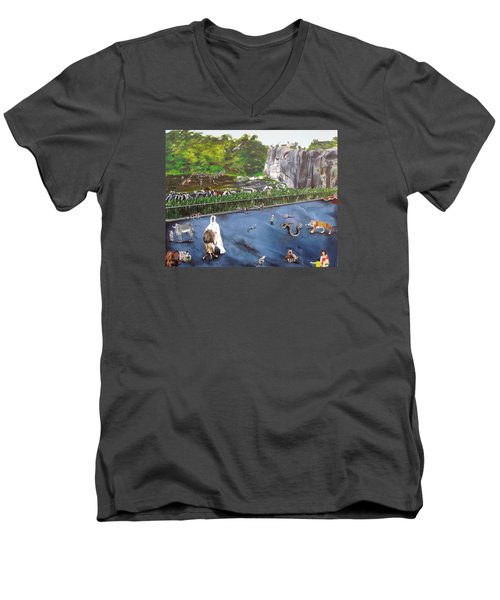 Chaos At The Garden Men's V-Neck T-Shirt