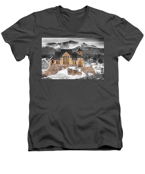 Chapel On The Rock Bwsc Men's V-Neck T-Shirt