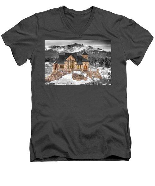 Chapel On The Rock Bwsc Men's V-Neck T-Shirt