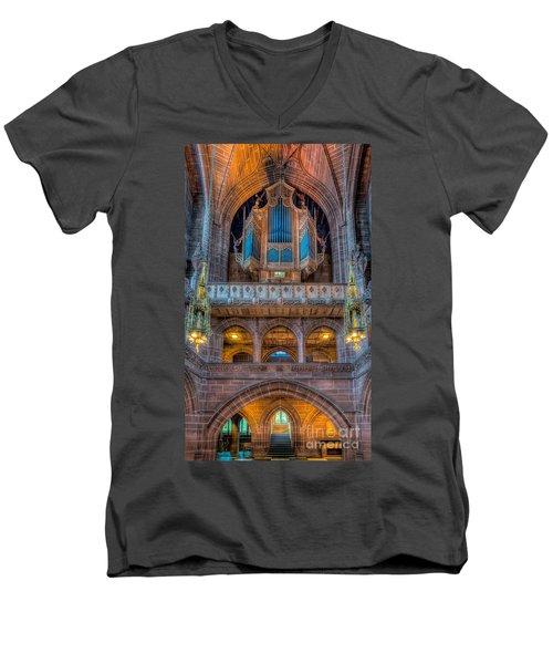 Chapel Organ Men's V-Neck T-Shirt