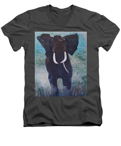 Charge Men's V-Neck T-Shirt by Catherine Swerediuk