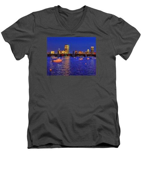 Charles River Basin 013 Men's V-Neck T-Shirt
