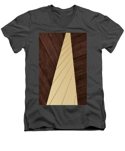 Charleston Bridge Abstract Men's V-Neck T-Shirt by Kathy Clark