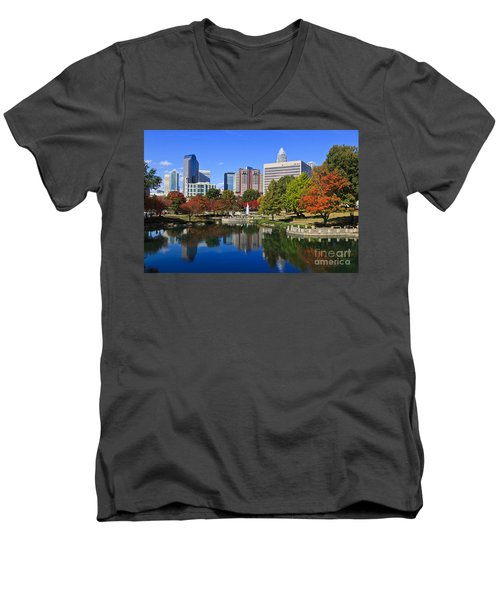 Charlotte North Carolina Marshall Park Men's V-Neck T-Shirt