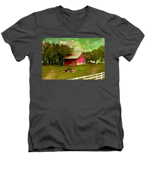 Men's V-Neck T-Shirt featuring the photograph Chartreuse Of Legend by Liane Wright