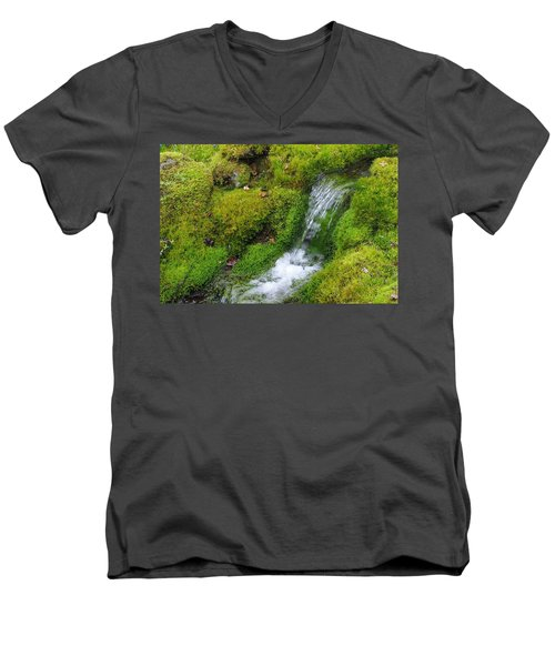 Men's V-Neck T-Shirt featuring the photograph Chasing Waterfalls by Marilyn Wilson