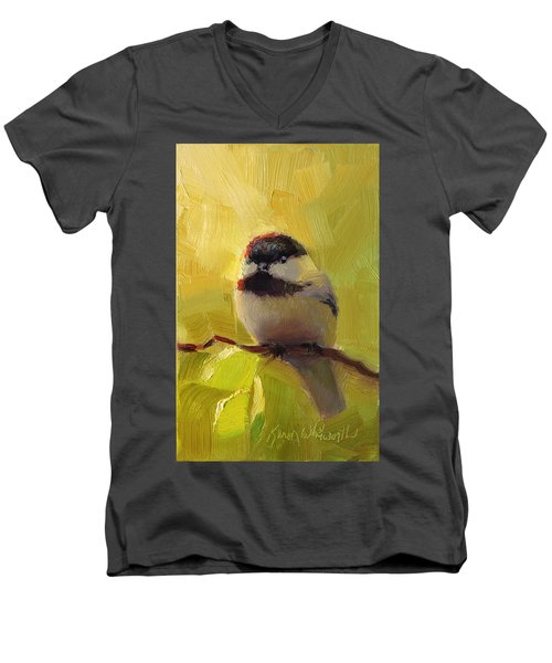 Chatty Chickadee - Cheeky Bird Men's V-Neck T-Shirt