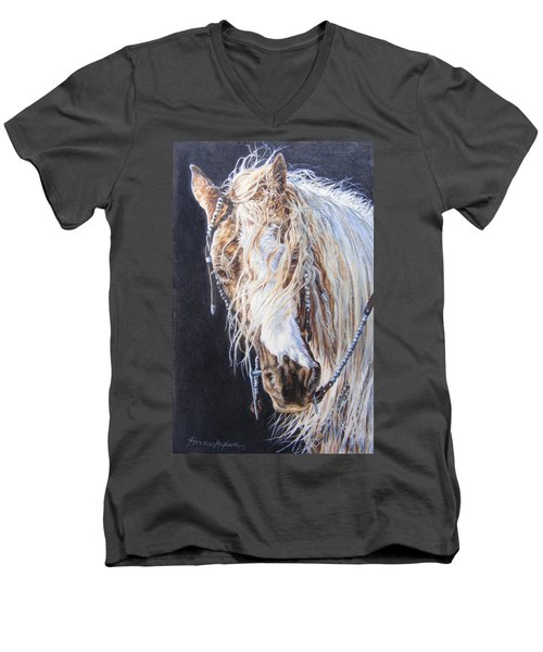 Cherokee Rose Gypsy Horse Men's V-Neck T-Shirt
