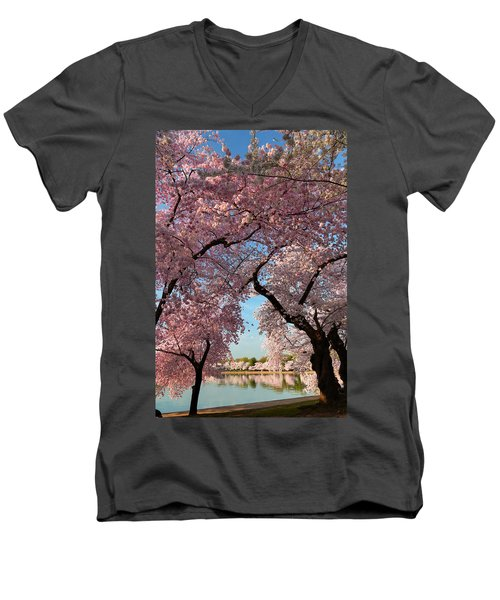 Cherry Blossoms 2013 - 024 Men's V-Neck T-Shirt