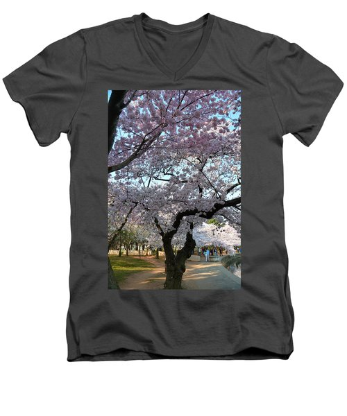 Cherry Blossoms 2013 - 044 Men's V-Neck T-Shirt