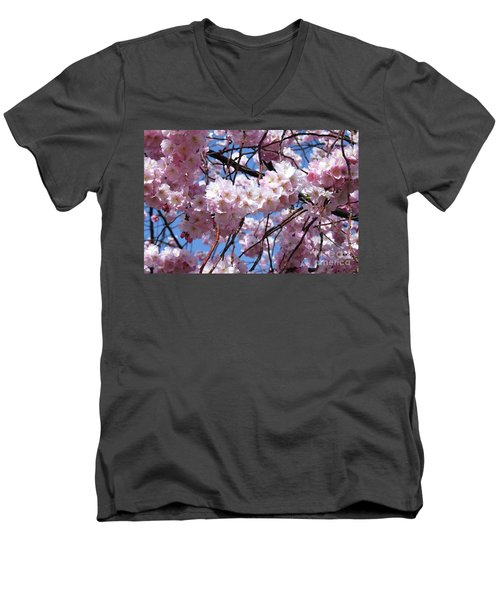 Cherry Blossom Trees Of Branch Brook Park 3 Men's V-Neck T-Shirt