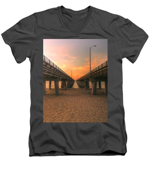 Chesapeake Bay Bridge IIi  Men's V-Neck T-Shirt