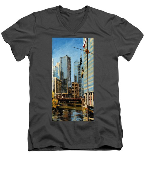 Chicago - The River From The East Men's V-Neck T-Shirt