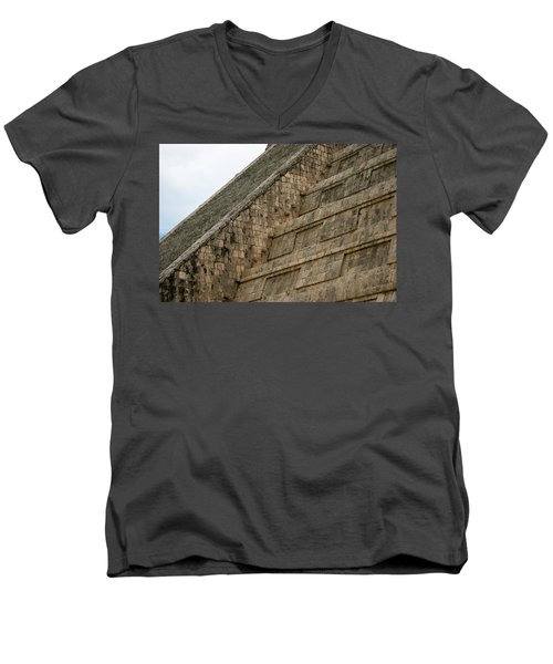 Chichen Itza Men's V-Neck T-Shirt by Silvia Bruno