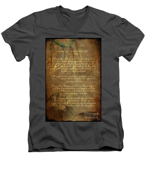Chief Tecumseh Poem Men's V-Neck T-Shirt
