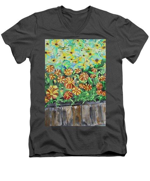 Childlike Flowers Men's V-Neck T-Shirt