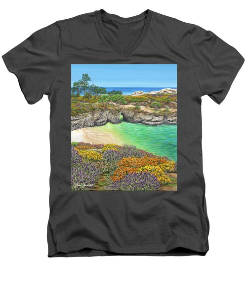 China Cove Paradise Men's V-Neck T-Shirt by Jane Girardot