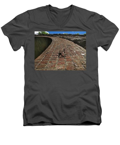 Chipmunks View Of A Stone Bridge Men's V-Neck T-Shirt