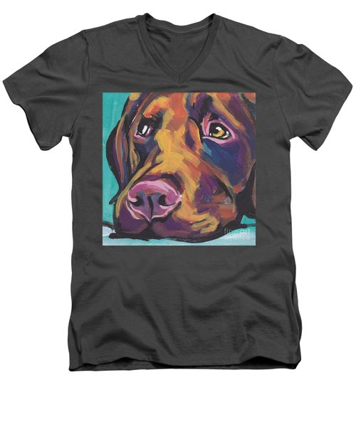 Choco Lab Love Men's V-Neck T-Shirt