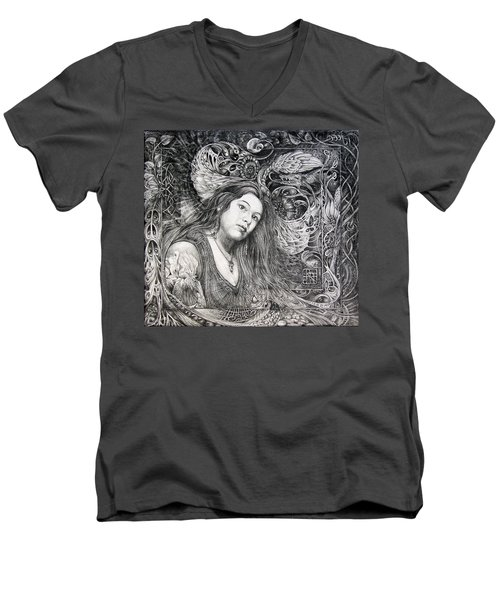 Christan Portrait Men's V-Neck T-Shirt
