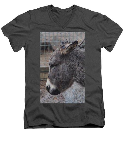 Christmas Donkey Men's V-Neck T-Shirt