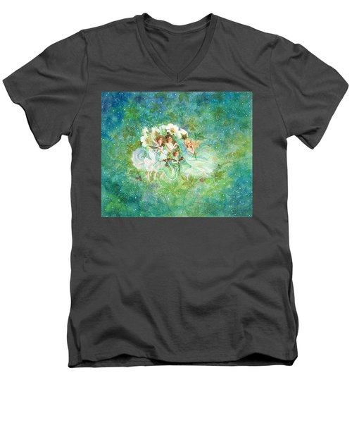 Christmas Fairies Men's V-Neck T-Shirt