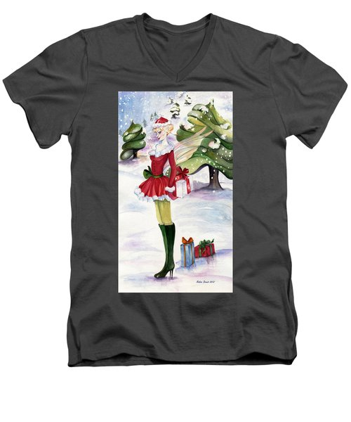 Christmas Fantasy  Men's V-Neck T-Shirt