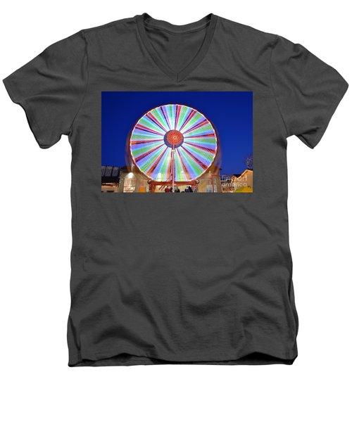 Christmas Ferris Wheel Men's V-Neck T-Shirt by George Atsametakis