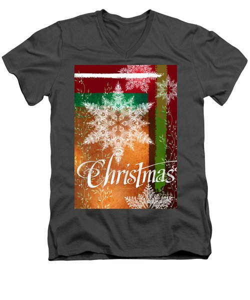 Christmas Greetings Men's V-Neck T-Shirt