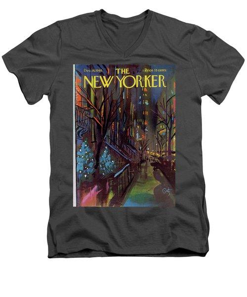 Christmas In New York Men's V-Neck T-Shirt