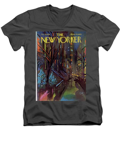 Christmas In New York Men's V-Neck T-Shirt