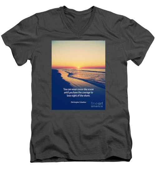 Christopher Columbus Quote Men's V-Neck T-Shirt