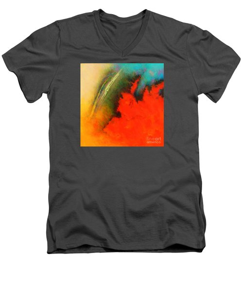 Fantasies In Space Series Painting. Chromatic Vibrations Men's V-Neck T-Shirt