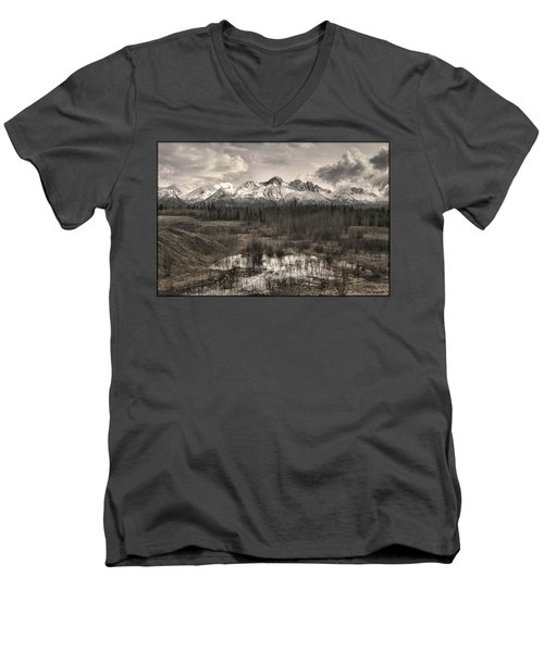 Chugach Mountain Range Men's V-Neck T-Shirt