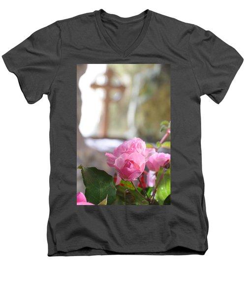 Church Flowers Men's V-Neck T-Shirt