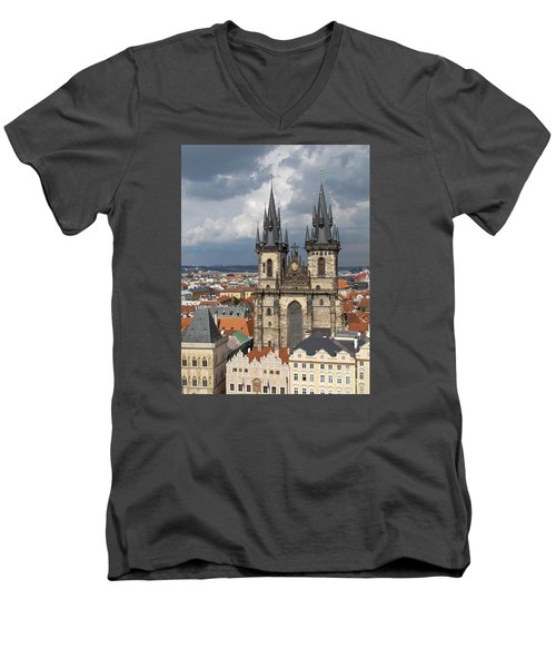 Church Of Our Lady Before Tyn - Prague Men's V-Neck T-Shirt