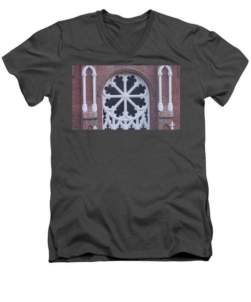 Church Rose  Men's V-Neck T-Shirt
